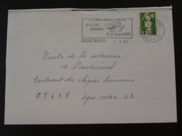 21 Cote D'Or Montbard Tournoi Rugby 1993 (ex 3) - Flamme Sur Lettre Postmark On Cover - Rugby