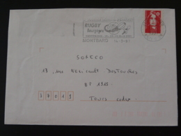 21 Cote D'Or Montbard Tournoi Rugby 1997 - Flamme Sur Lettre Postmark On Cover - Rugby