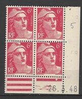 CD 721 FRANCE 1948 COIN DATE 721  :  26 / 3 / 48 TYPE MARIANNE DE GANDON - 1940-1949
