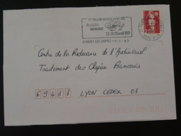 21 Cote D'Or Venarey Les Laumes Tournoi Rugby 1993 (ex 1) - Flamme Sur Lettre Postmark On Cover - Rugby