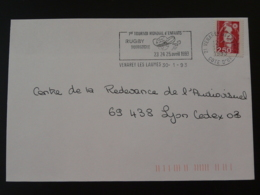 21 Cote D'Or Venarey Les Laumes Tournoi Rugby 1993 (ex 2) - Flamme Sur Lettre Postmark On Cover - Rugby