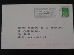 21 Cote D'Or Venarey Les Laumes Tournoi Rugby 2000 (ex 1) - Flamme Sur Lettre Postmark On Cover - Rugby