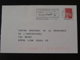 21 Cote D'Or Venarey Les Laumes Tournoi Rugby 2000 (ex 2) - Flamme Sur Lettre Postmark On Cover - Rugby
