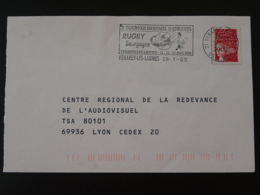 21 Cote D'Or Venarey Les Laumes Tournoi Rugby 2000 (ex 3) - Flamme Sur Lettre Postmark On Cover - Rugby