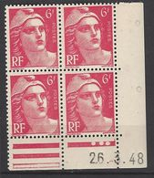 CD 721A FRANCE 1948 COIN DATE 721A  :  26 / 3 / 48 TYPE MARIANNE DE GANDON - 1940-1949