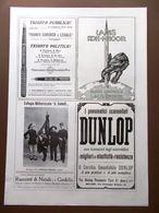 Pubblicità Del 1914 Livia Berlendi Dunlop Gabelli Officina Parmense Del 1914 - Boeken, Tijdschriften, Stripverhalen