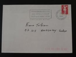 22 Cotes Du Nord Saint Brieuc Internationaux Volleyball 1990 (ex 1) - Flamme Sur Lettre Postmark On Cover - Pallavolo