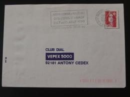 22 Cotes Du Nord Saint Brieuc Internationaux Volleyball 1990 (ex 2) - Flamme Sur Lettre Postmark On Cover - Pallavolo