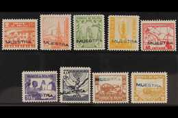 "SPECIMENS  1938 Definitives Set, Handstamped ""MUESTRA"" In Blue Or Black, As Scott 242/50, Small Gum Fault On 2b, Otherwi - Bolivia"