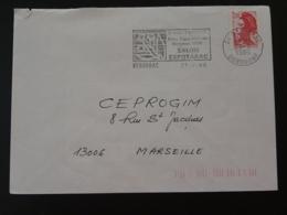 24 Dordogne Bergerac Salon Du Tabac Tobacco 1986 - Flamme Sur Lettre Postmark On Cover - Tabak