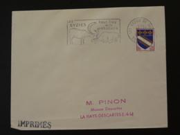 24 Dordogne Les Eyzies Haut Lieu De La Préhistoire 1966 - Flamme Sur Lettre Postmark On Cover - Préhistoire