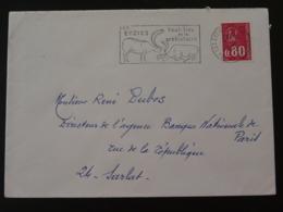 24 Dordogne Les Eyzies Haut Lieu De La Préhistoire 1975 - Flamme Sur Lettre Postmark On Cover - Préhistoire
