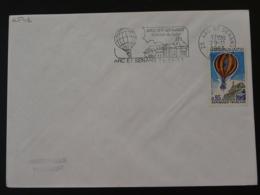 25 Doubs Arc Et Senans Montgolfiere Hot Air Balloon (concordante) - Flamme Sur Lettre Postmark On Cover - Airships