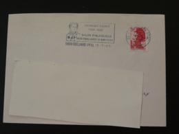 25 Doubs Montbeliard Georges Cuvier Paleontologie 1989 (ex 1) - Flamme Sur Lettre Postmark On Cover - Préhistoire