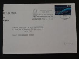 25 Doubs Montbeliard Georges Cuvier Paleontologie 1989 (ex 2) - Flamme Sur Lettre Postmark On Cover - Préhistoire