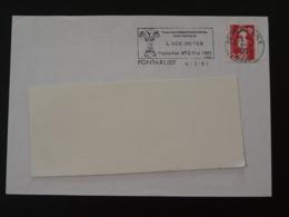 25 Doubs Pontarlier Colloque Age Du Fer 1991 (ex 1) - Flamme Sur Lettre Postmark On Cover - Préhistoire