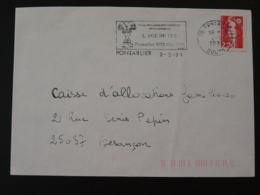 25 Doubs Pontarlier Colloque Age Du Fer 1991 (ex 2) - Flamme Sur Lettre Postmark On Cover - Préhistoire