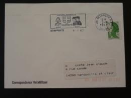 25 Doubs St Hippolyte (bloc Dateur Besancon) Gendarmerie 1987 - Flamme Sur Lettre Postmark On Cover - Police - Gendarmerie