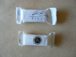 Déstockage FRANCE, PIGNOL & BOCUSE Lyon, 2 Sucres Entiers Format Bonbon, TB. - Sucres