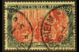 1905-12  5m Carmine & Black 'Peace Printing' Scarce Shade, Michel 97 A Ia, Fine Used With Two Fully Dated Cds Cancels, I - Allemagne