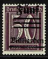 1923  Unissued 5M On 50pf Purple Inflation Provisional Stamp With Handstamp From The Egyptian Royal Collection On Revers - Allemagne