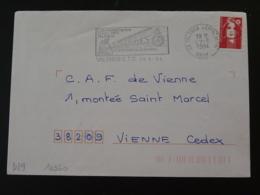 26 Drome Valence Club Archéologique Minéraux Prehistoire 1994 (ex 3) - Flamme Sur Lettre Postmark On Cover - Préhistoire