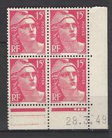 CD 813 FRANCE 1949 COIN DATE 813 :  23 / 3 / 49 TYPE MARIANNE DE GANDON - 1940-1949