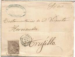 ISABEL II ENVUELTA DE SALAMANCA A TRUJILLO 1869 - Storia Postale