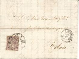 ISABEL II ENVUELTA DE SALAMANCA A TOLOSA 1869 - Storia Postale