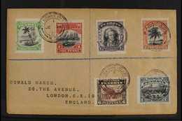 1920  Pictorial Set (SG 32/37) Tied On Registered Cover To London By Neat Penrhyn Island Cds For More Images, Please Vis - Penrhyn