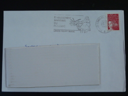 29 Finistère Lanveoc Poulmic Marine Helicoptere Marine Nationale (ex 1)  - Flamme Sur Lettre Postmark On Cover - Hubschrauber