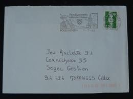 29 Finistère Poullaouen Costume Cornemuse Bagpipe - Flamme Sur Lettre Postmark On Cover - Musique