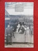 ZAEPFEL JACOB EMILE DE BRUMATH A La Foire Aux Jambons 1909 CARTE PHOTO BETHMONT - Fiere