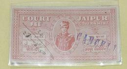 (9).. India Inde .Jaipur 1 Anna Court Fee Stamp - Jaipur