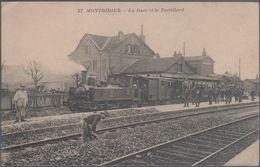 Montdidier , La Gare Et Le Tortillard , Animée - Francia