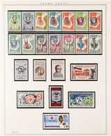 1959-1967 COMPLETE NEVER HINGED MINT COLLECTION  In Hingeless Mounts On Leaves, All Different, COMPLETE From 1959 To Mid - Allemagne