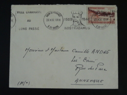 13 Bouches Du Rhône Salon De Provence Nostradamus Astrologie 1957 - Flamme Sur Lettre Postmark On Cover - Annullamenti Meccanici (pubblicitari)