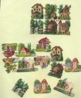 18 Découpis Paysages Dont Une Plaque Complète 4 Cm Environ Non Collés    6 - Other