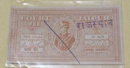 (2).... India Inde .Jaipur 2  Anna Court Fee Stamp - Jaipur