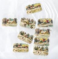 8 Découpis  Paysages Sous La Neige 4.5 X 3.5 Cm 15 - Other