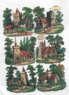 6 Découpis Paysages En Plaque 6 X 2.5 Cm Non Collés    3 - Other