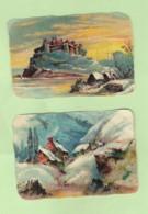 2 Découpis Paysages 9 X 6.5 Cm Non Collés    1 - Other