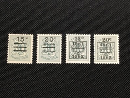 1960. OBP 1172/1173A **. MNH .Value Change. - Unused Stamps