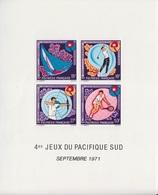 Polynésie, B 2 (4° Jeux Du Pacifique Sud Septembre 1971, Voile, Golf, Tir à L'arc, Tennis), Neuf ** - Blocks & Sheetlets