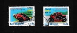 OBL 1791 1792 MI 2010 2011 U 1849 1850 Motocyclisme Manuel Poggiali Champion Du Monde 65/53 - Used Stamps