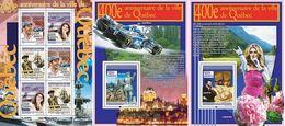Guinea 2008, 400th Quebec, C. Dion, Villeneuve, F1, 6val In BF +2BF - Guinée (1958-...)