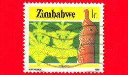 ZIMBABWE - Usato - 1985 - Cultura, Tecnologia Ed Economia - Tabacco - 1 - Zimbabwe (1980-...)
