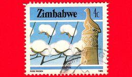 ZIMBABWE - Usato - 1985 - Cultura, Tecnologia Ed Economia - Cotone - 4 - Zimbabwe (1980-...)