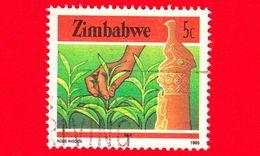 ZIMBABWE - Usato - 1985 - Cultura, Tecnologia Ed Economia - Tè - Tea - 5 - Zimbabwe (1980-...)