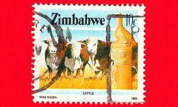 ZIMBABWE - Usato - 1985 - Cultura, Tecnologia Ed Economia - Bestiame - Cattle - 10 - Zimbabwe (1980-...)